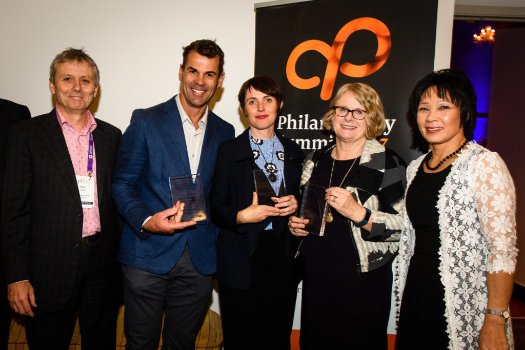 Jennifer Gill recognised with Perpetual Guardian Lifetime Achievement in Philanthropy award